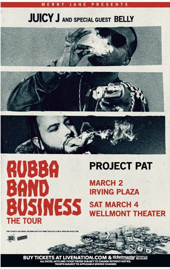 Merry Jane Presents Juicy J The Rubba Band Business Tour