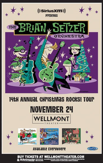 the brian setzer orchestra s 14th annual christmas rocks tour the wellmont theater. Black Bedroom Furniture Sets. Home Design Ideas